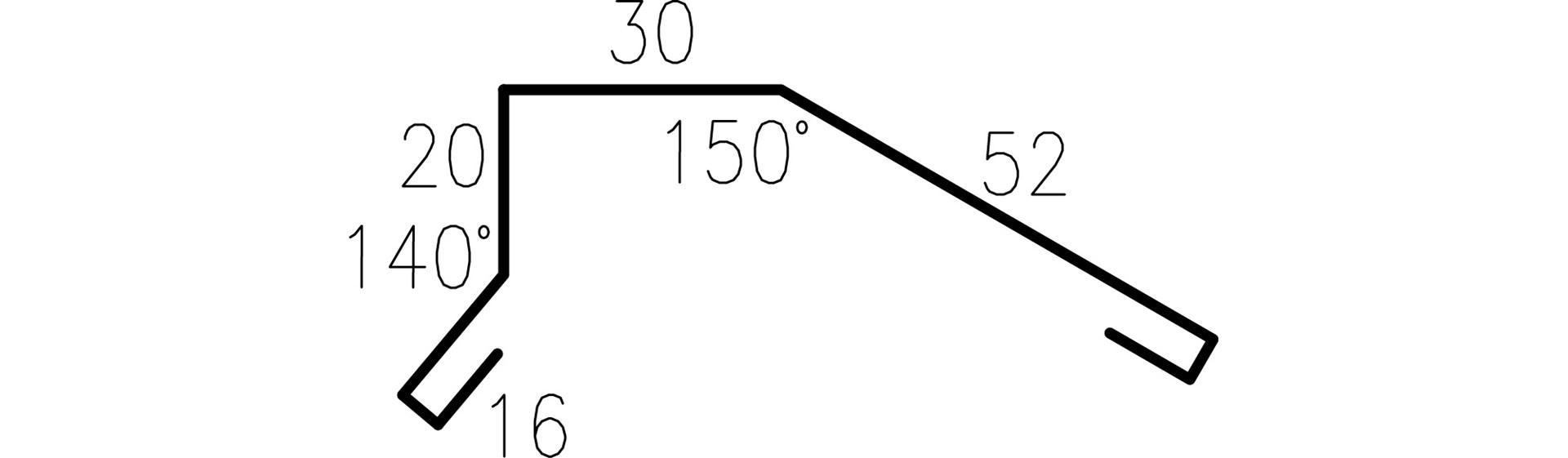 Profilgeometri Gavelbeslag 326628