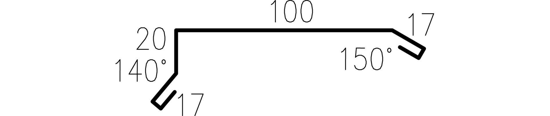 Profilgeometri Gavelbeslag 326629