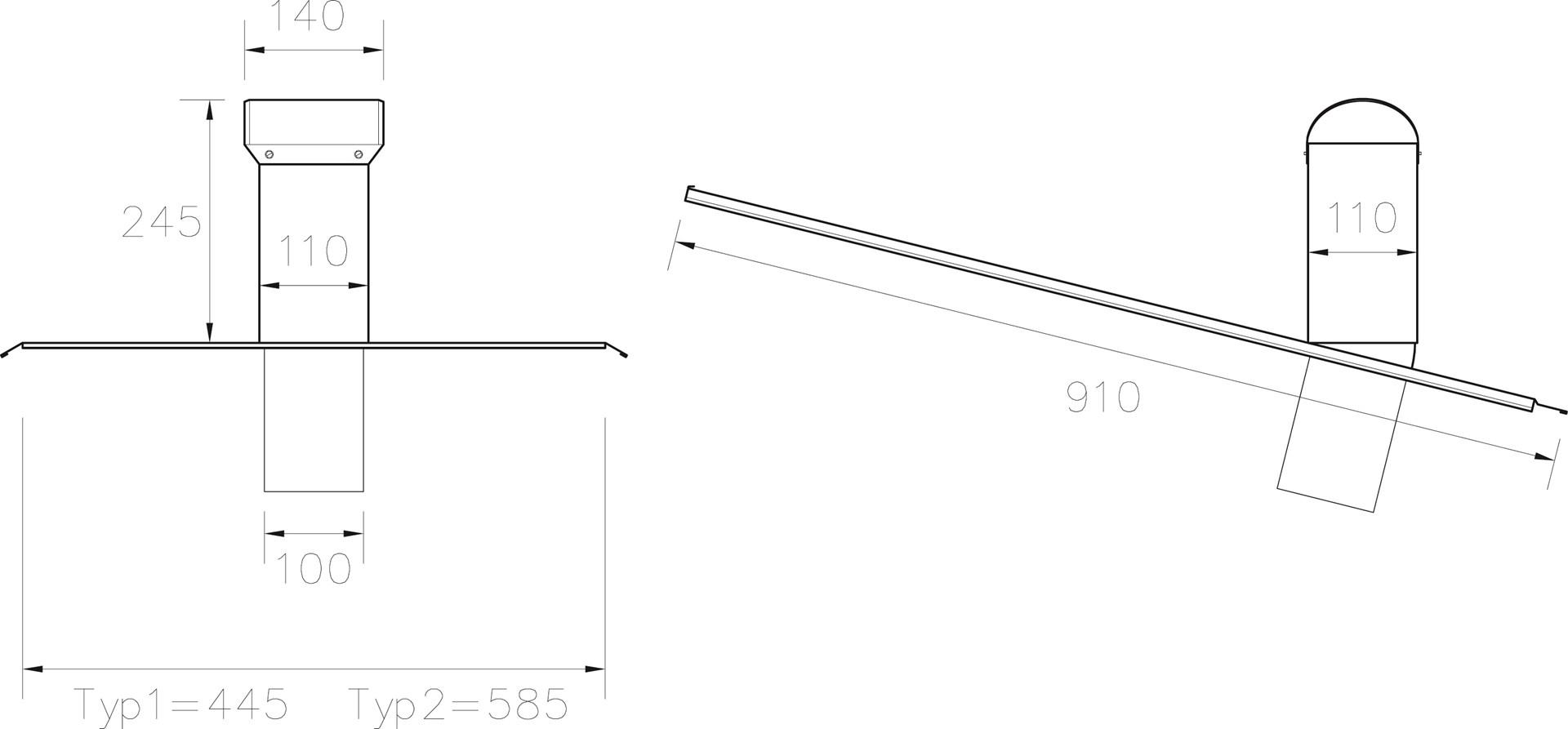 profilgeometri avloppsluftare typ 1