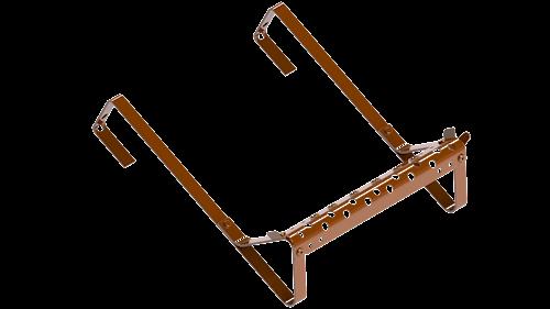 Taksteg tegelröd till takpannor på råspont & lätta undertak