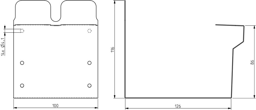 Profilgeometri rännskarv square