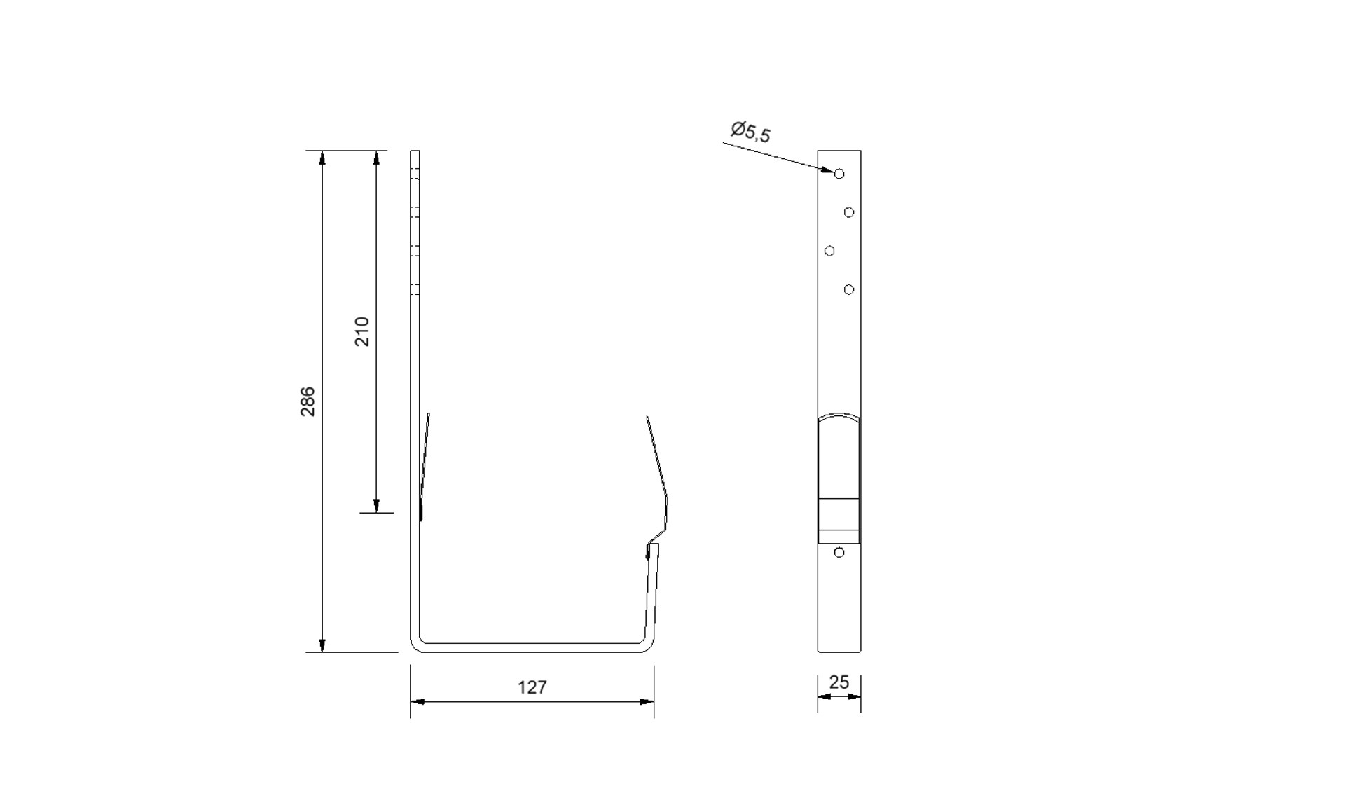 Plannja Rännkrok Square 345 profilgeometri