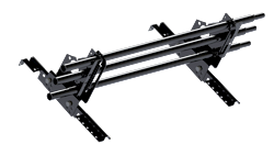 Snöräcke 3-rörs - Tegelprofil, Pannplåt, Sinus & Falsat - Snöräcke 3-rörs 2,4 m till Tegelprofilerad plåt, pannplåt, sinus och trp - Svart