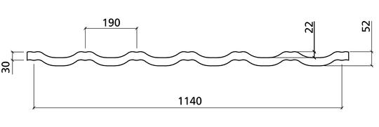 Plannja Regal profilgeometri