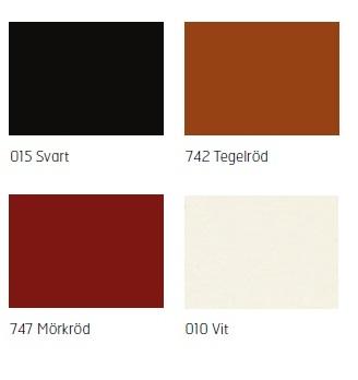 Vanligaste färgerna Färger