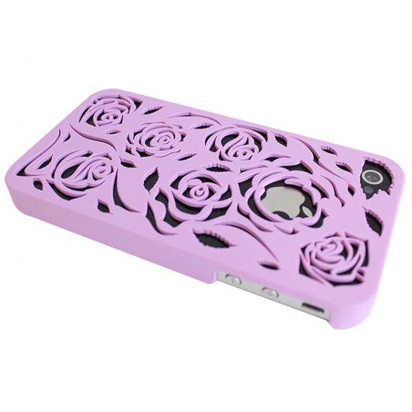iphone-4-4s-plast-skal-ros-lila