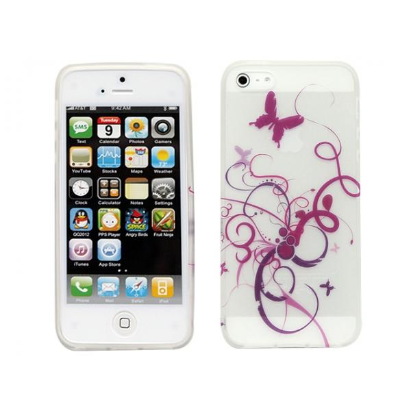 iphone-5-motiv-gel-skal-vit-lila-fjaril