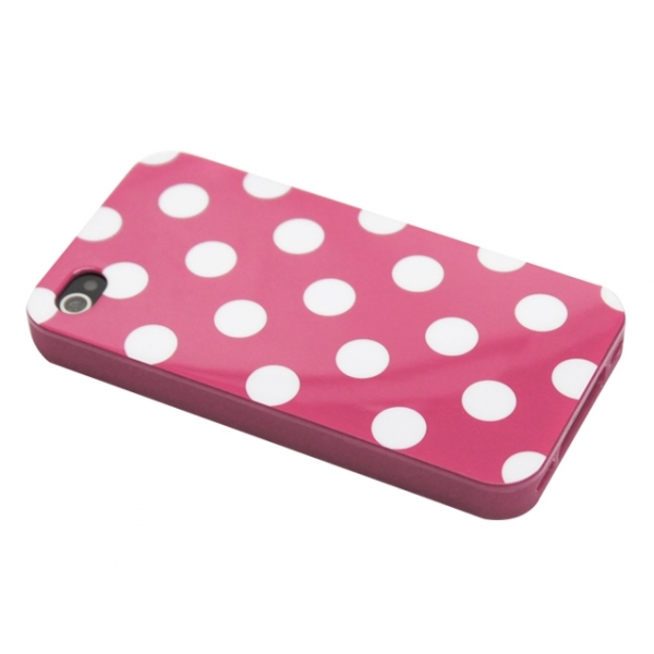 iphone-4-4s-polka-skal-rosa-vita-prickar1