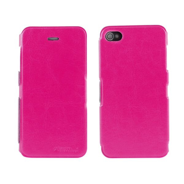 aa-iphone-44s-ultra-slim-folio-premium-booklet-flip-fodral-rosa