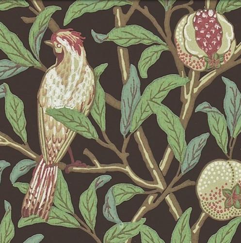 Bird & Pomegranate Brun L