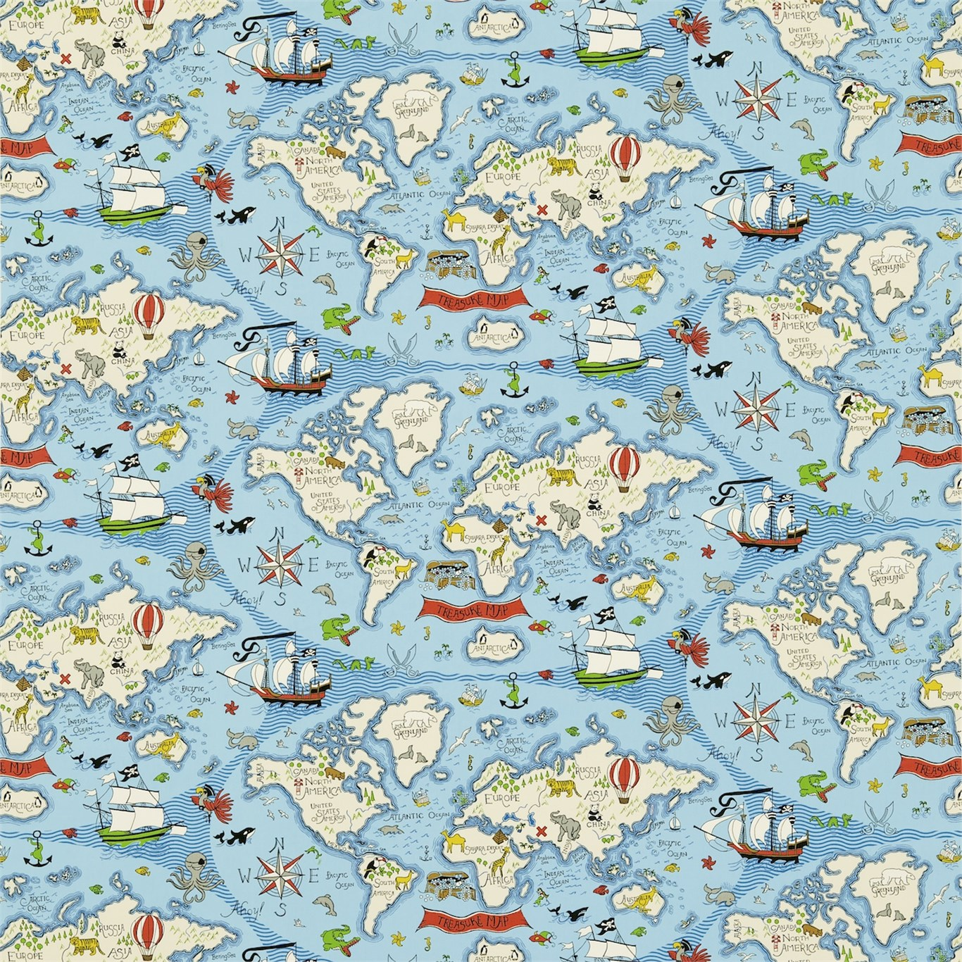 Treasure Map Blå