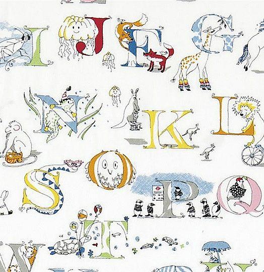 Alphabet zoo broderad Multi L