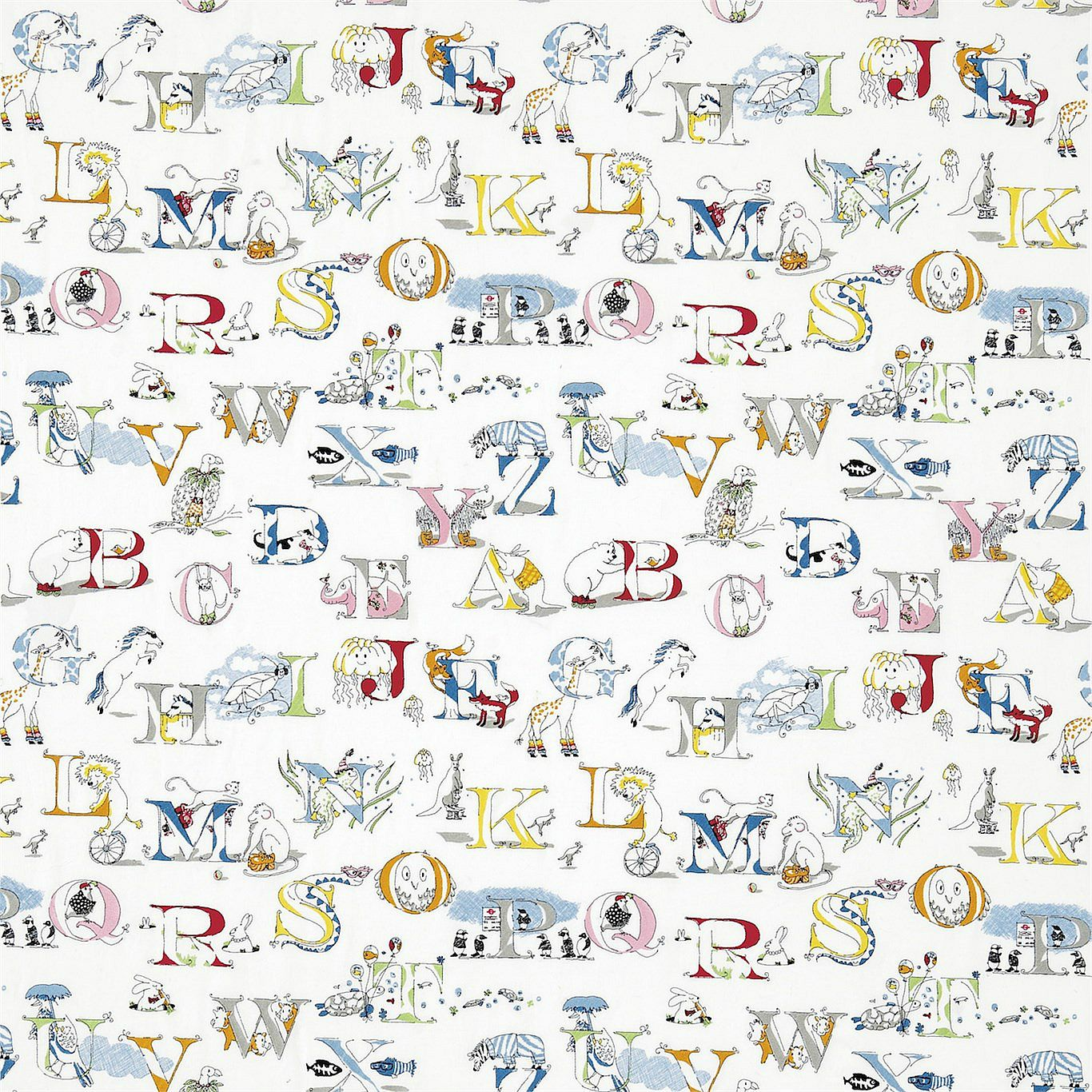 Alphabet zoo broderad Multi