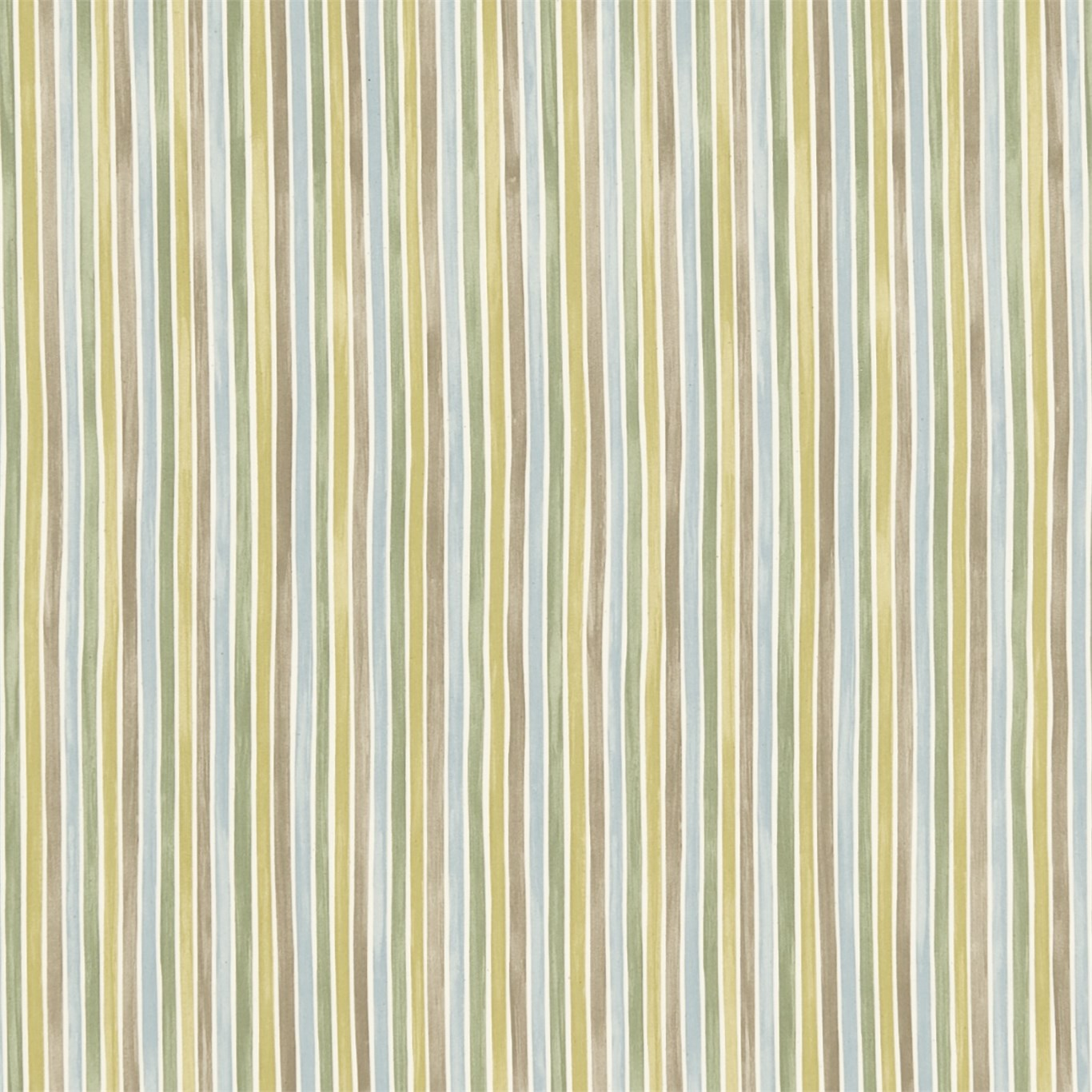 EB Tyg Polka Stripe gröngråblå