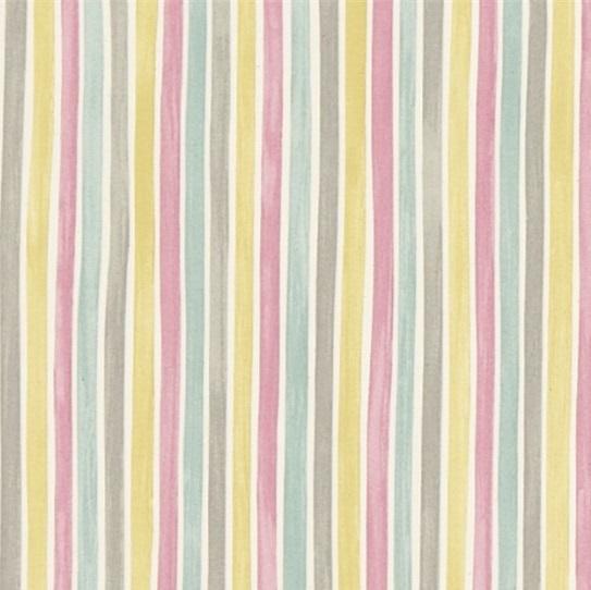 EB Tyg Polka Stripe Rosagulgrå L