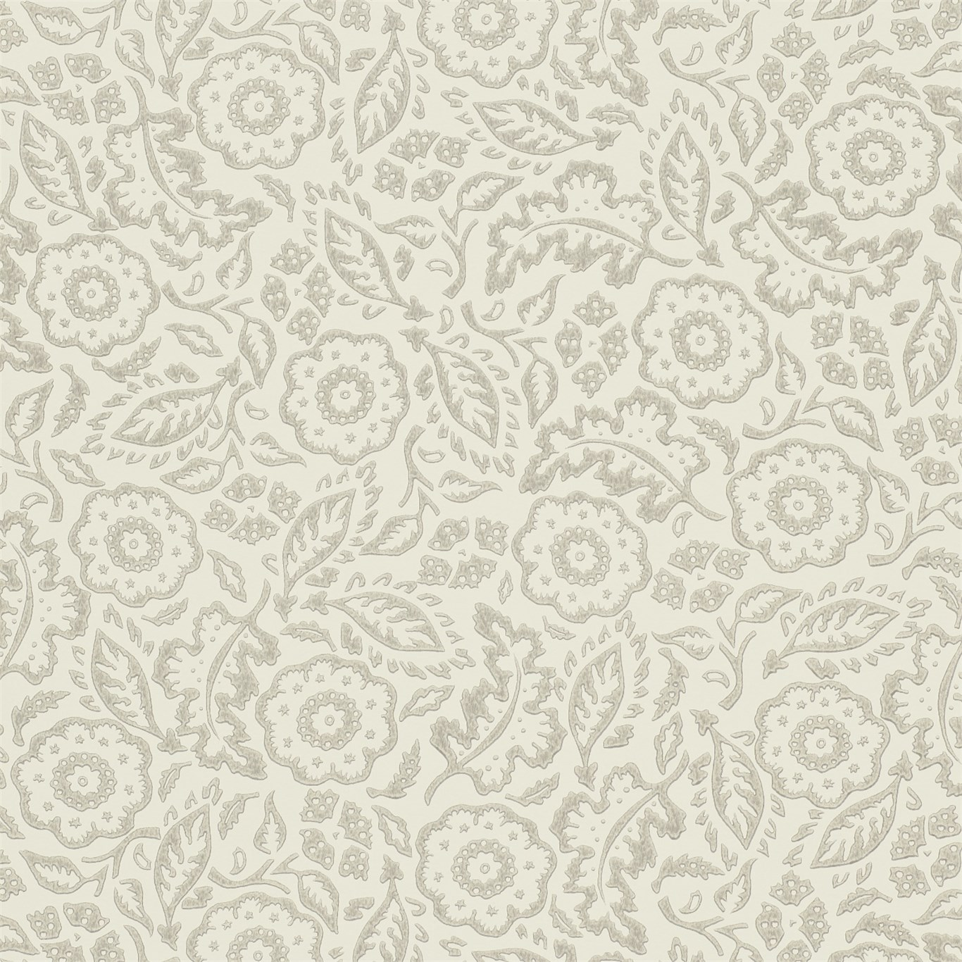 EB Tapet Floral Damask Silver