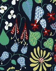 Tyg Ljungbergs - Herbarium - Tyg Herbarium Mörkblå