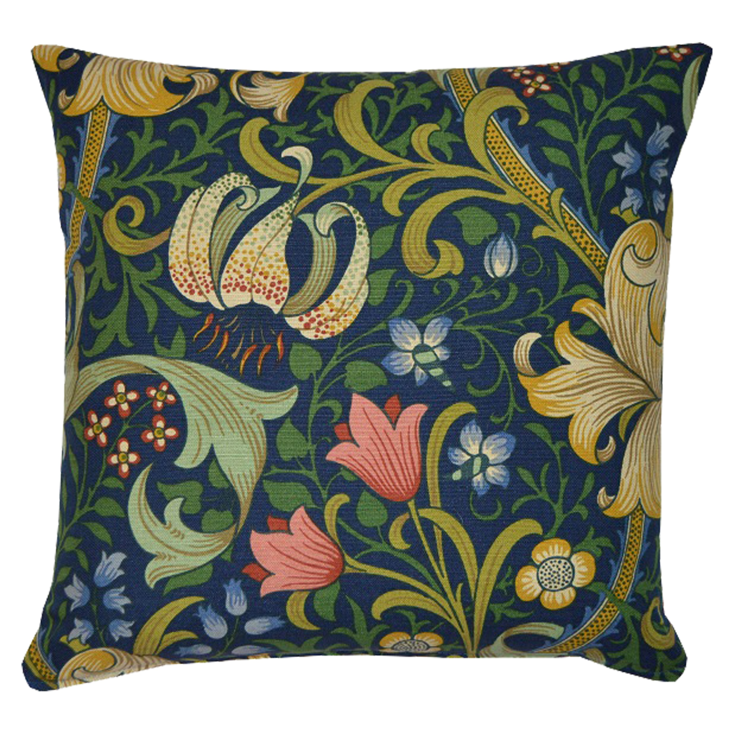 Kudde William Morris Golden Lily Mörkblå