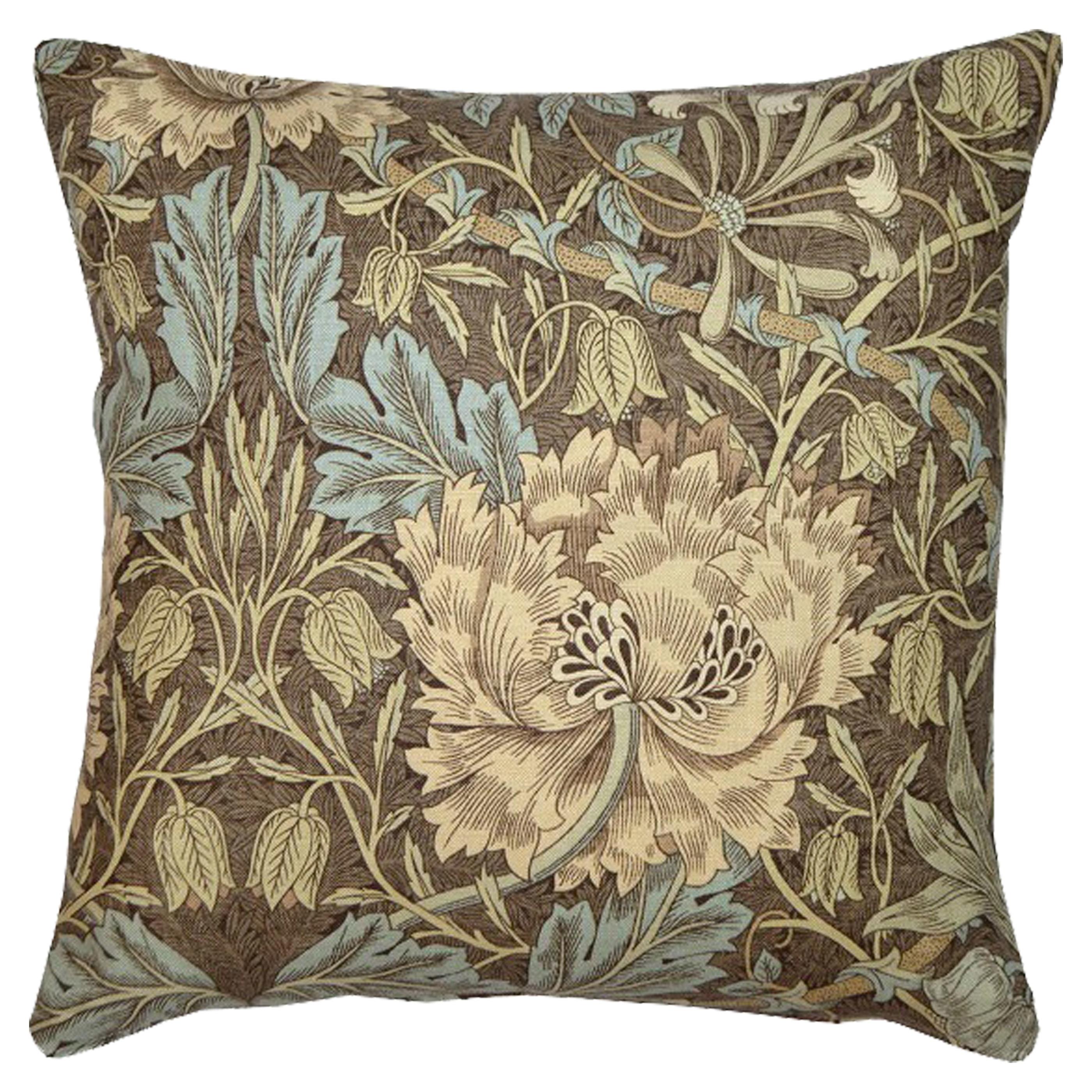 Kudde William Morris Honeysuckle & Tulip Brun