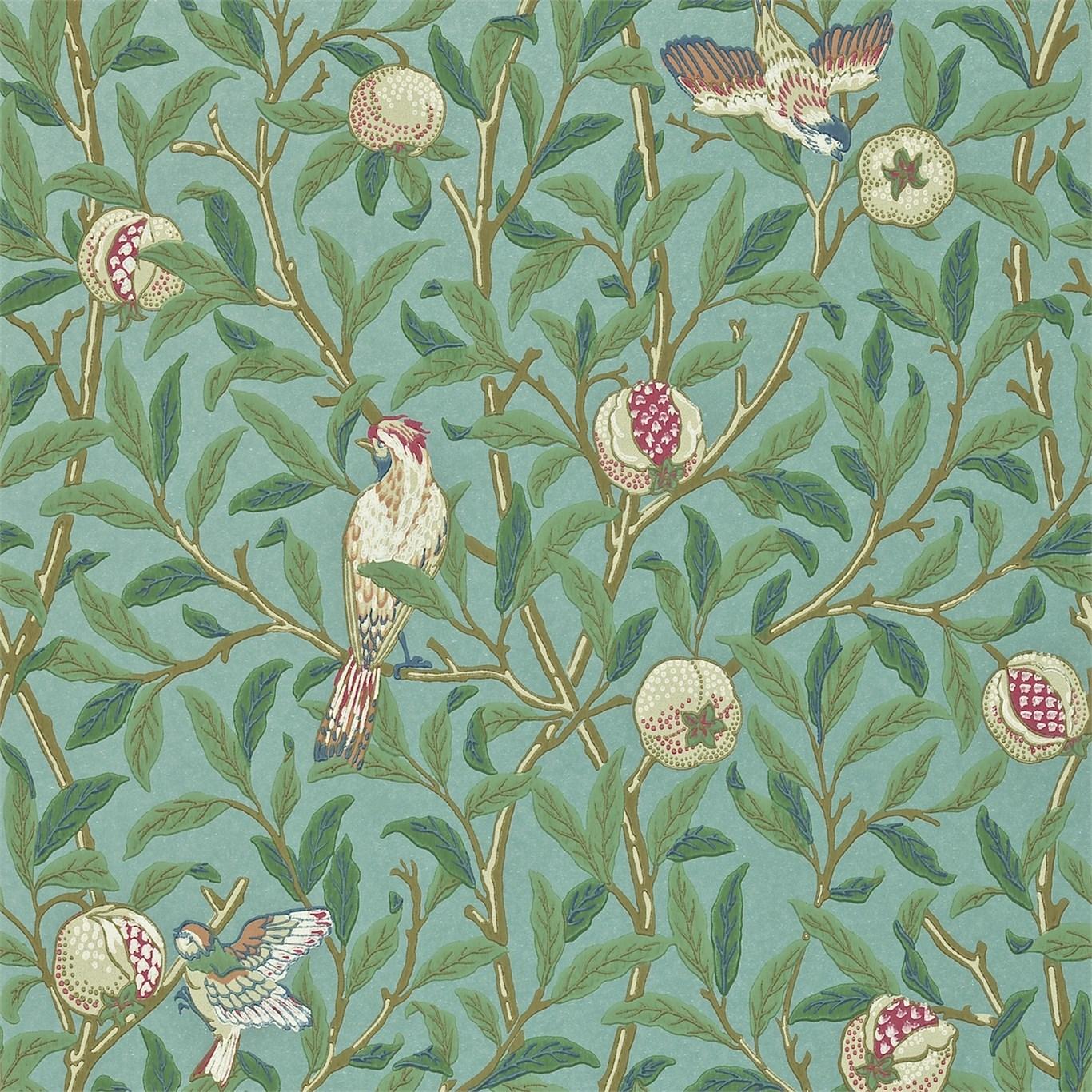 Tapet William Morris Bird & Pomegranate 212538