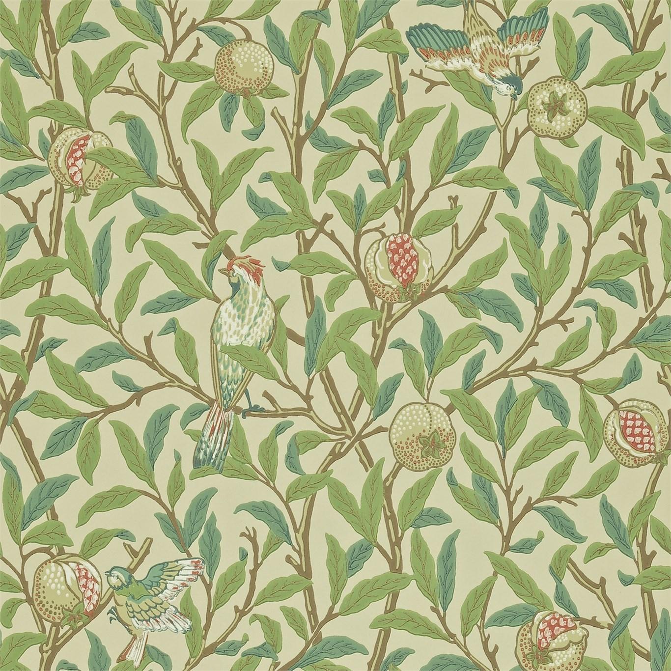 William MorrisBird & Pomegranate Designad 1926  Tapeten beställs i antal rullar.  Bredd 52.0cm: (20.5