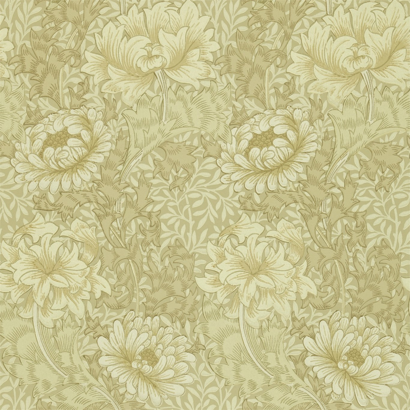 Tapet William Morris Chrysanthmum 210419