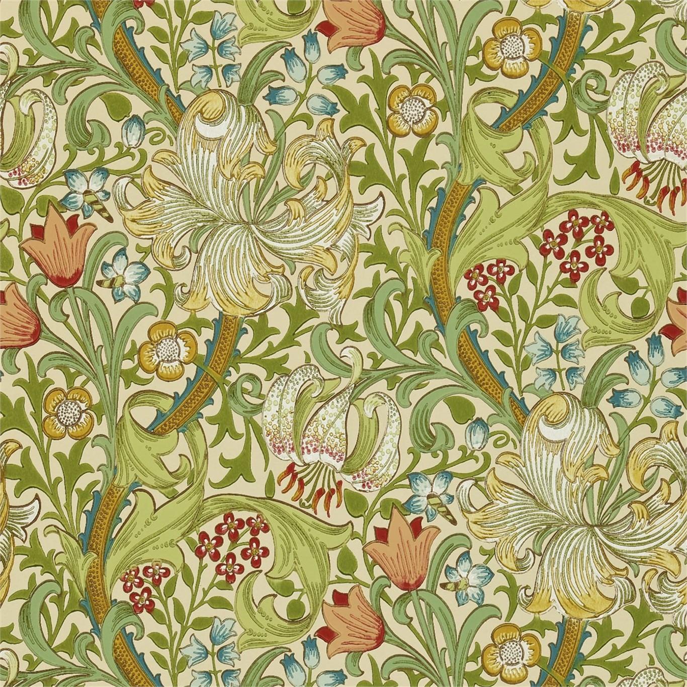 Tapet William Morris Golden Lily 216464