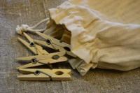Rustika klädnypor i påse - Rustika klädnypor