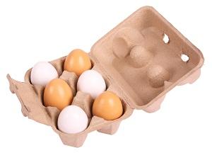Äggkartong med 6 träägg - Äggkartong med 6 träägg