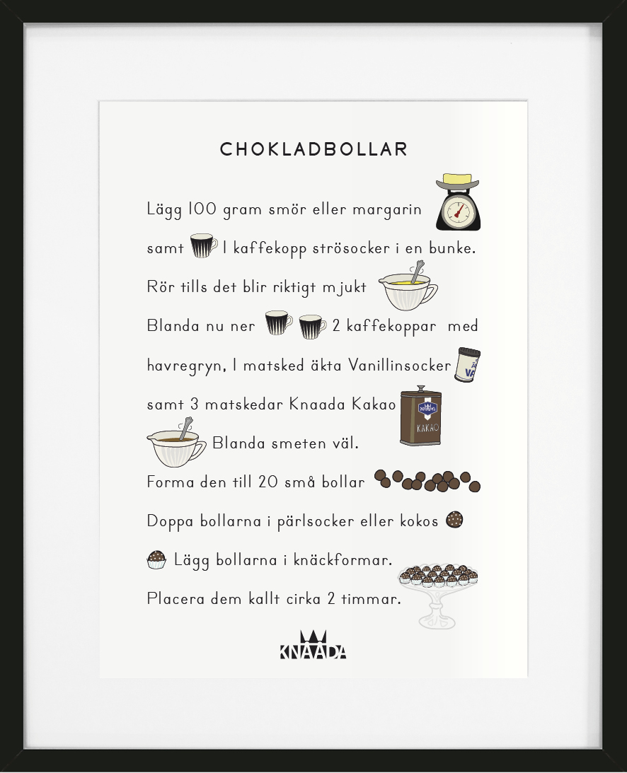 Poster Chokladbollar
