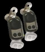 Fjärrkontroller till SM600 och S1000. Två st är standard till varje motor och varje fjärrkontroll kan styra 2 portöppnare