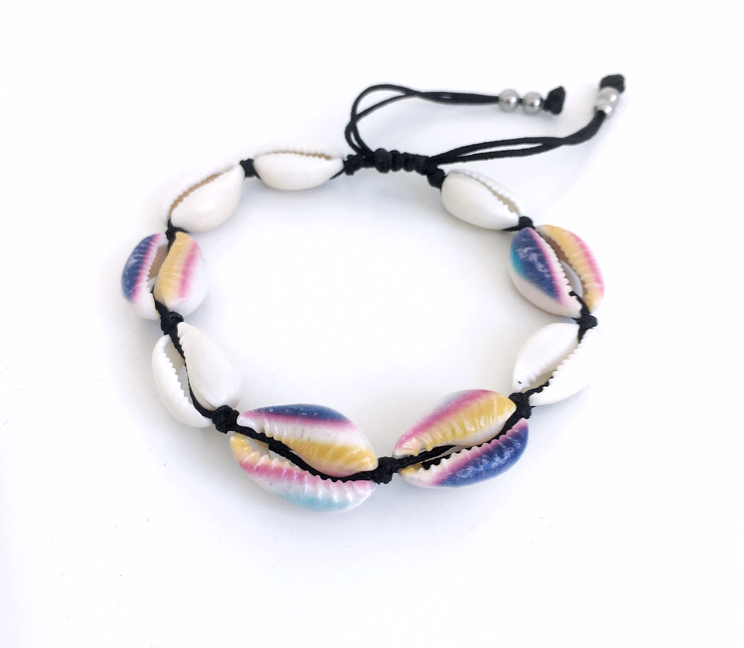 Snäckarmband med färg_randigt