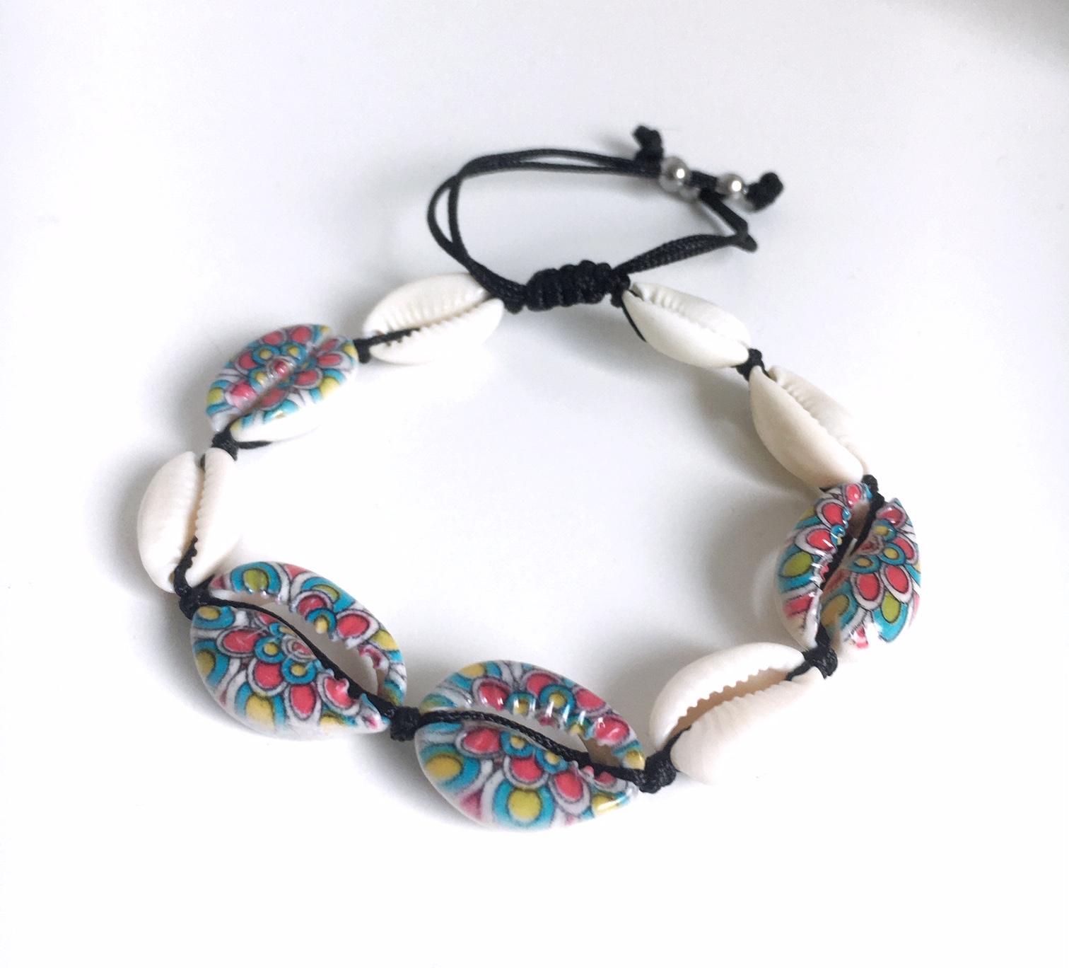 Snäckarmband med färg_retro