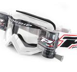 Progrip Glasögon med XL Roll off system - Progrip Glasögon Vita, klar lins med XL Roll off system