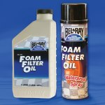 Bel-Ray filter oil foam
