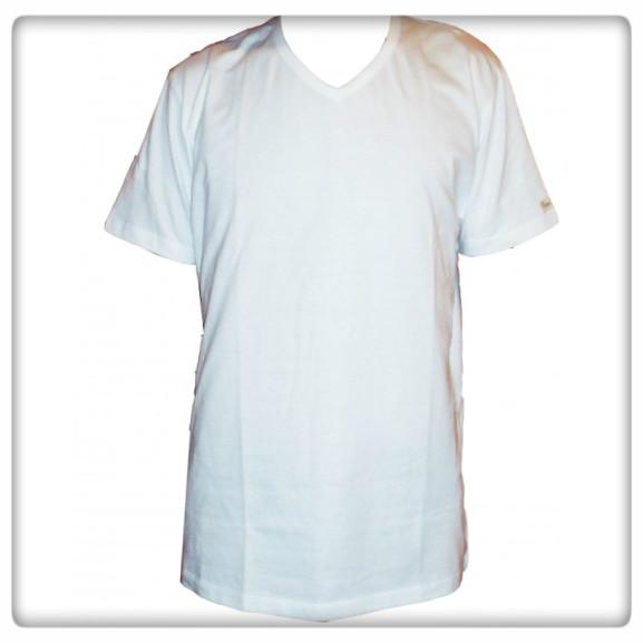 t-shirt v-ringad herr ekologisk bomull
