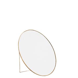 Spegel stor mässing