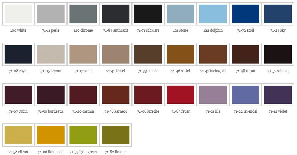 Färger för Behandlingsbänk