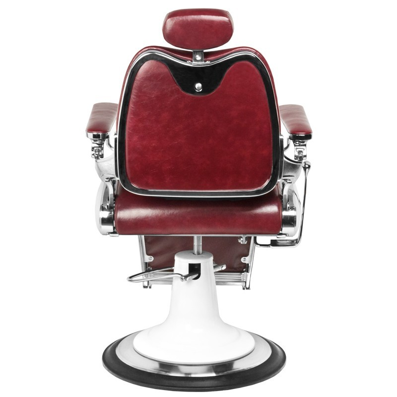 Barber Chair Maroon Italian Design