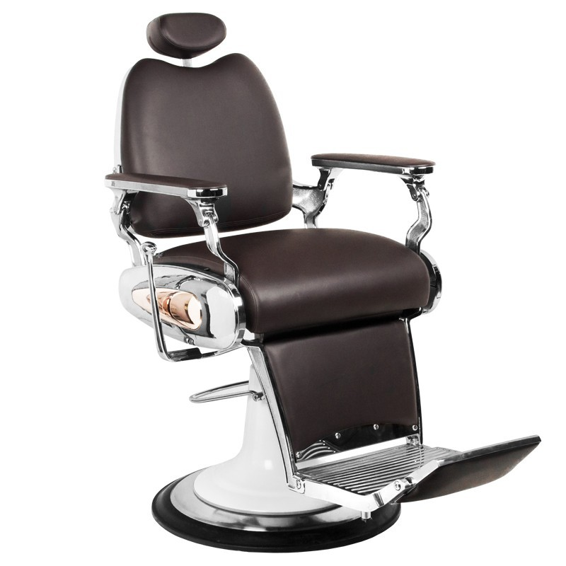 Barber Chair Maroon III Italian Design BROWN