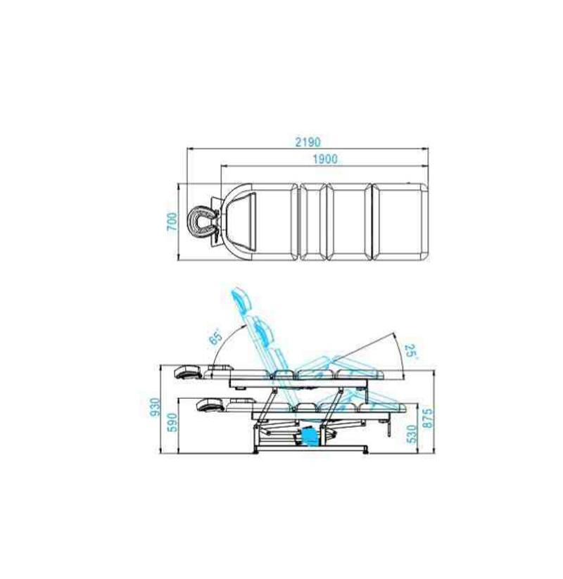 Behandlingsbänk Physio 1 motor