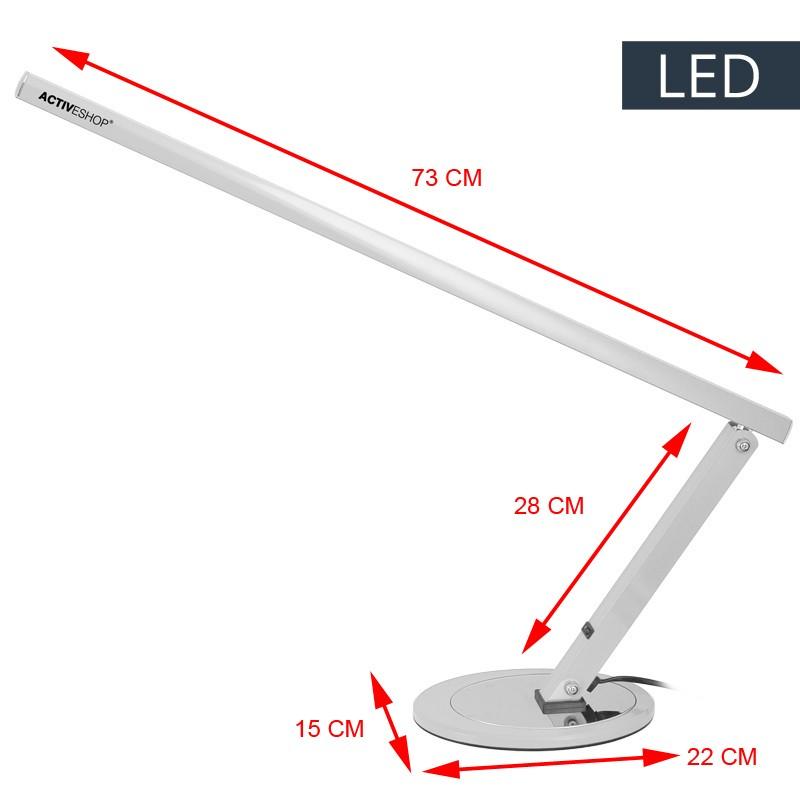 Manikyrlampa  LED Slim Aluminum-silver