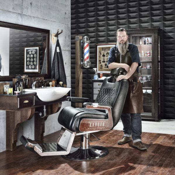 Barber Skåp Lyx