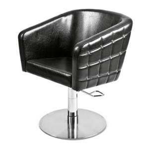 Frisörstol Glamrock med Nit färgval -  Made in Europe - Frisörstol Glamrock med nit i färg: SVART