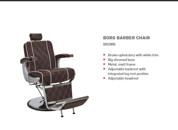 Barber Chair Borg brun