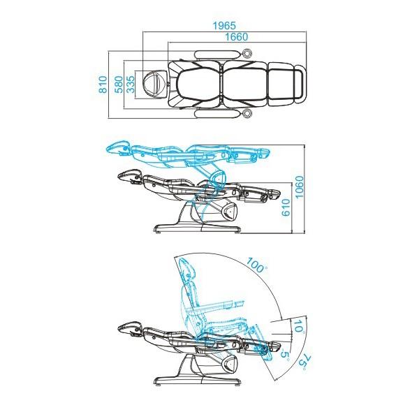 Behandlingsbänk Muro 3 motor