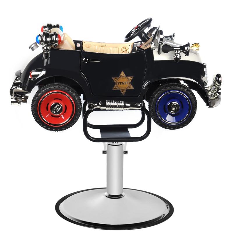 Barnklippstol Barbers Police Car Babe
