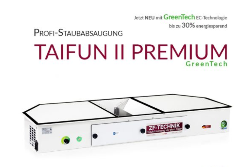 Prof. Bordsutsug Taifun Model II GREENTECH LA Premium Made in Germany