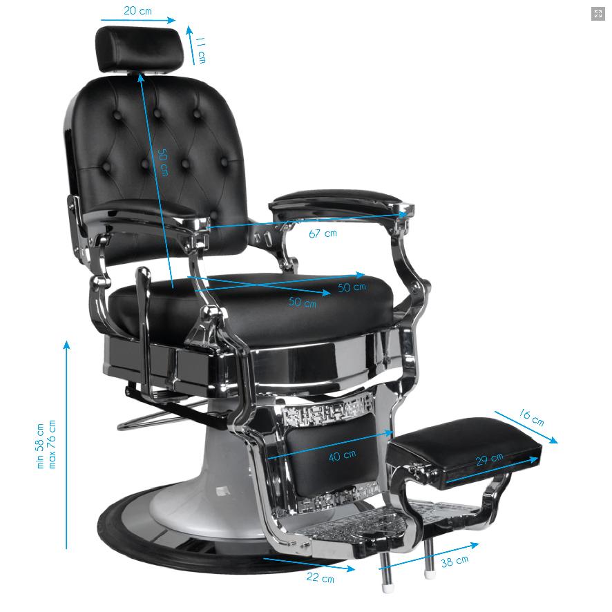 Barber Chair RODEO i svart