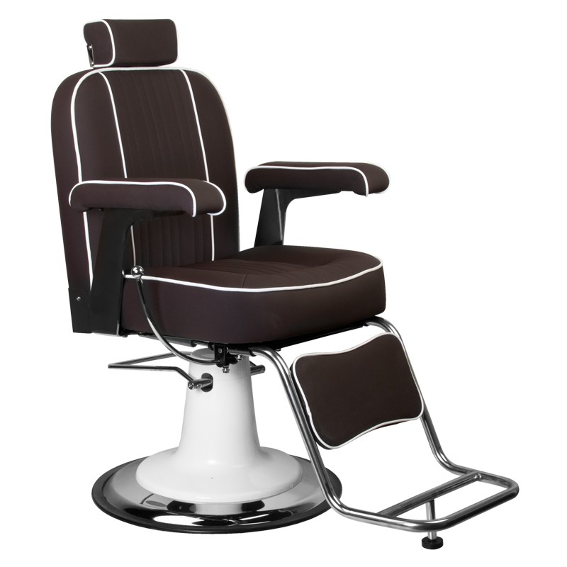 Barber Chair Frisörstol unisex TOMMY Make Up Stol i brun